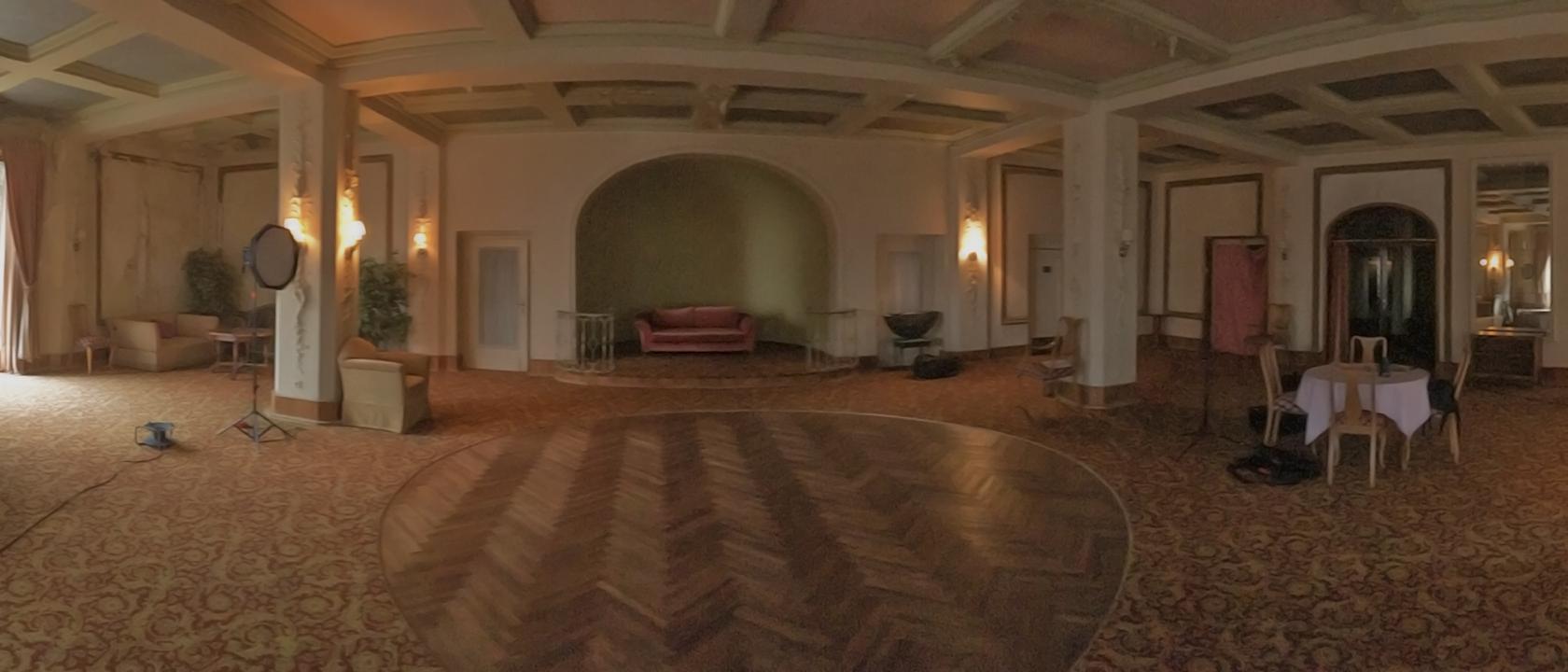 Ballsaal des ehemaligen Schlosshotel Waldlust